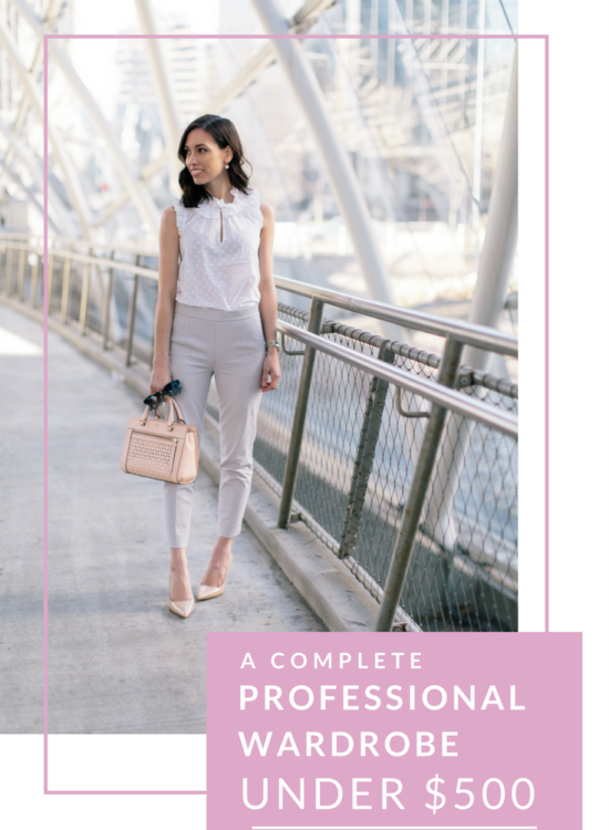 professional-wardrobe-under-500-wellesley and king-@wellesleynking | A Complete Professional Wardrobe Under $500 featured by top Pittsburgh fashion blog, Wellesley & King