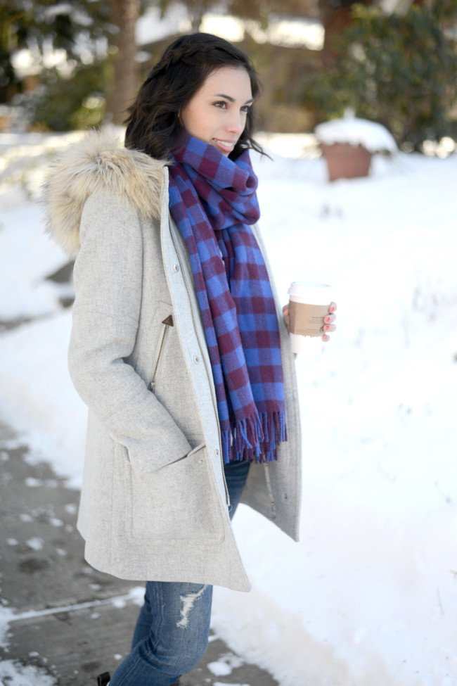 Wellesley & King | winter outfit, winter coat, bean boots, jcrew parka, jcrew coat, classic outfit, casual outfit