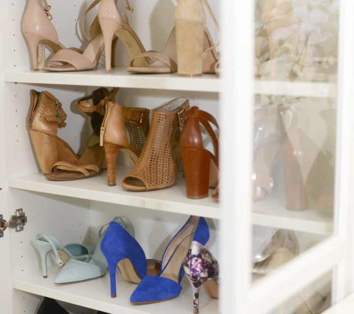 shoe cabinet shoe organizing | Shoe Closet Organizer: The Ultimate Solution for Shoe Storage featured by top Pittsburgh fashion blog, Wellesley & King: after picture