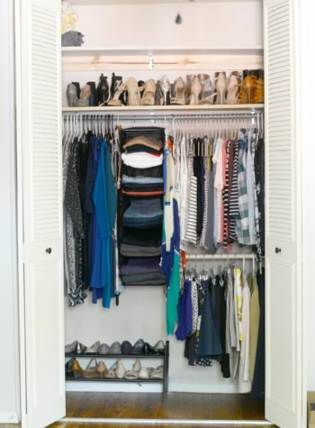bedroom closet reorganization | | Closet Reorganization Tips for Moving Into a New Home featured by top US life and style blog, Wellesley & King