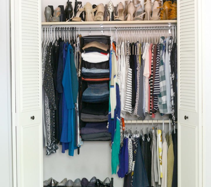 bedroom closet reorganization