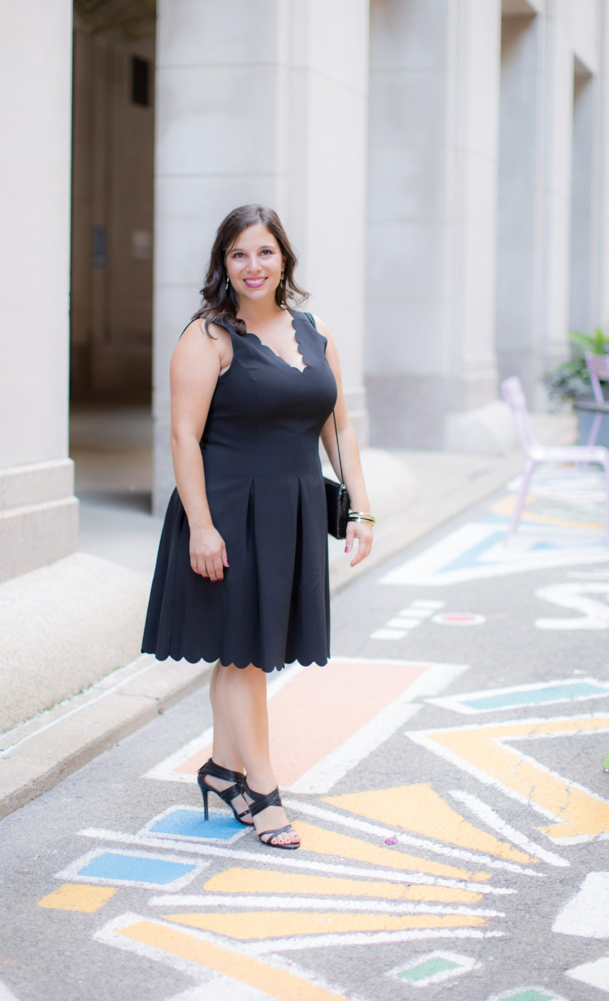 banana republic scallop cocktail dress featured by top US fashion blog, Wellesley & King