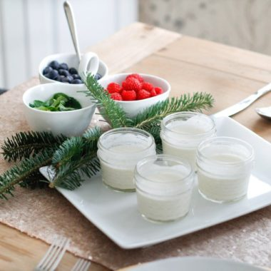 lemon creme fraiche berries