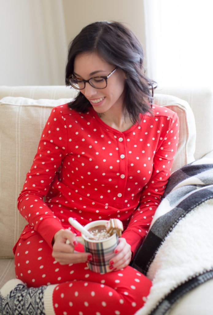tartan mug red christmas womens pajamas | Holiday PJs styled by top Pittsburgh fashion blogger, Wellesley and King