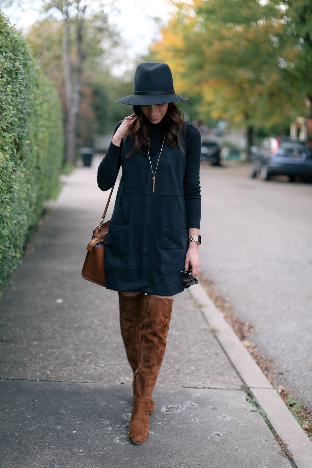 fall suede dress-otk boots-wellesley and king-pittsburgh blogger-@wellesleynking