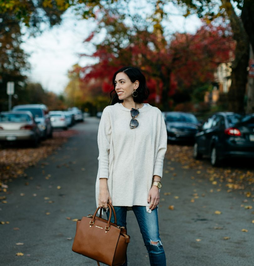 Cute Maternity Fall Outfit featured by top Pittsburgh fashion blog, Wellesley & King