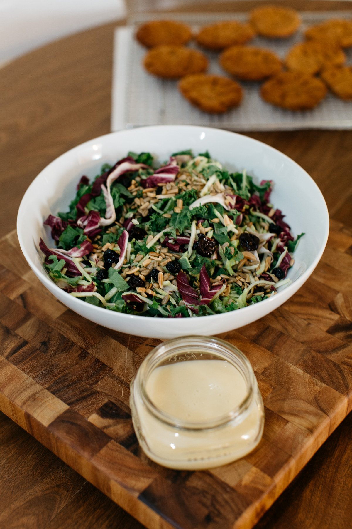 Easy Entertaining: Winter Kale Salad featured by top Pittsburgh foodie blog Wellesley & King