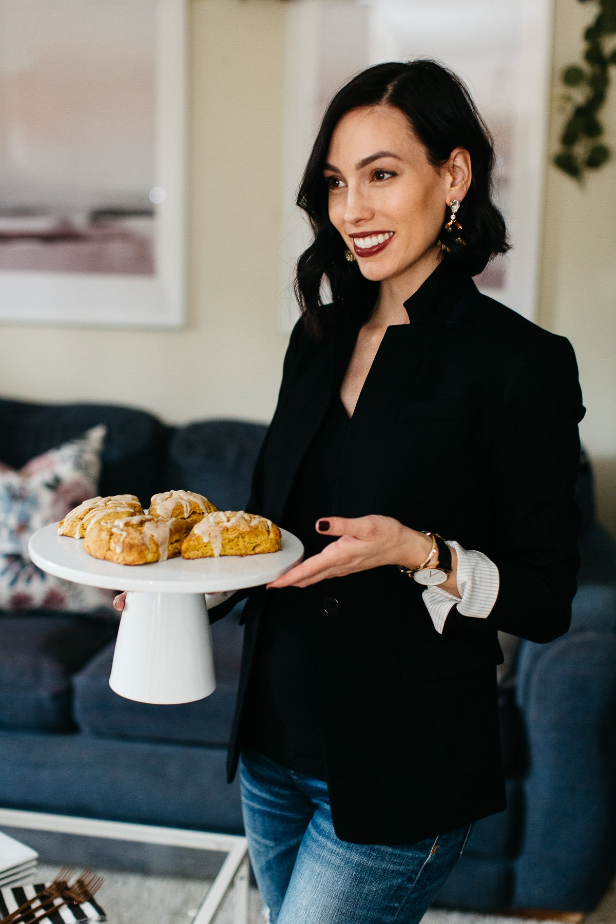 Recipes | Holidays | Maple Frosted Pumpkin Spice Scones for Thanksgiving Morning featured by top Pittsburgh life and style blog Wellesley & King