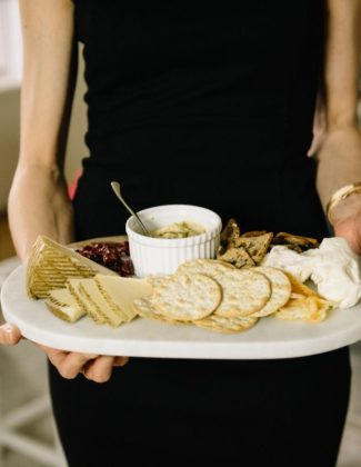 3 tips to make the Best Cheese Plate featured by top US lifestyle blog, Wellesley & King: image of a beautiful easy cheese plate