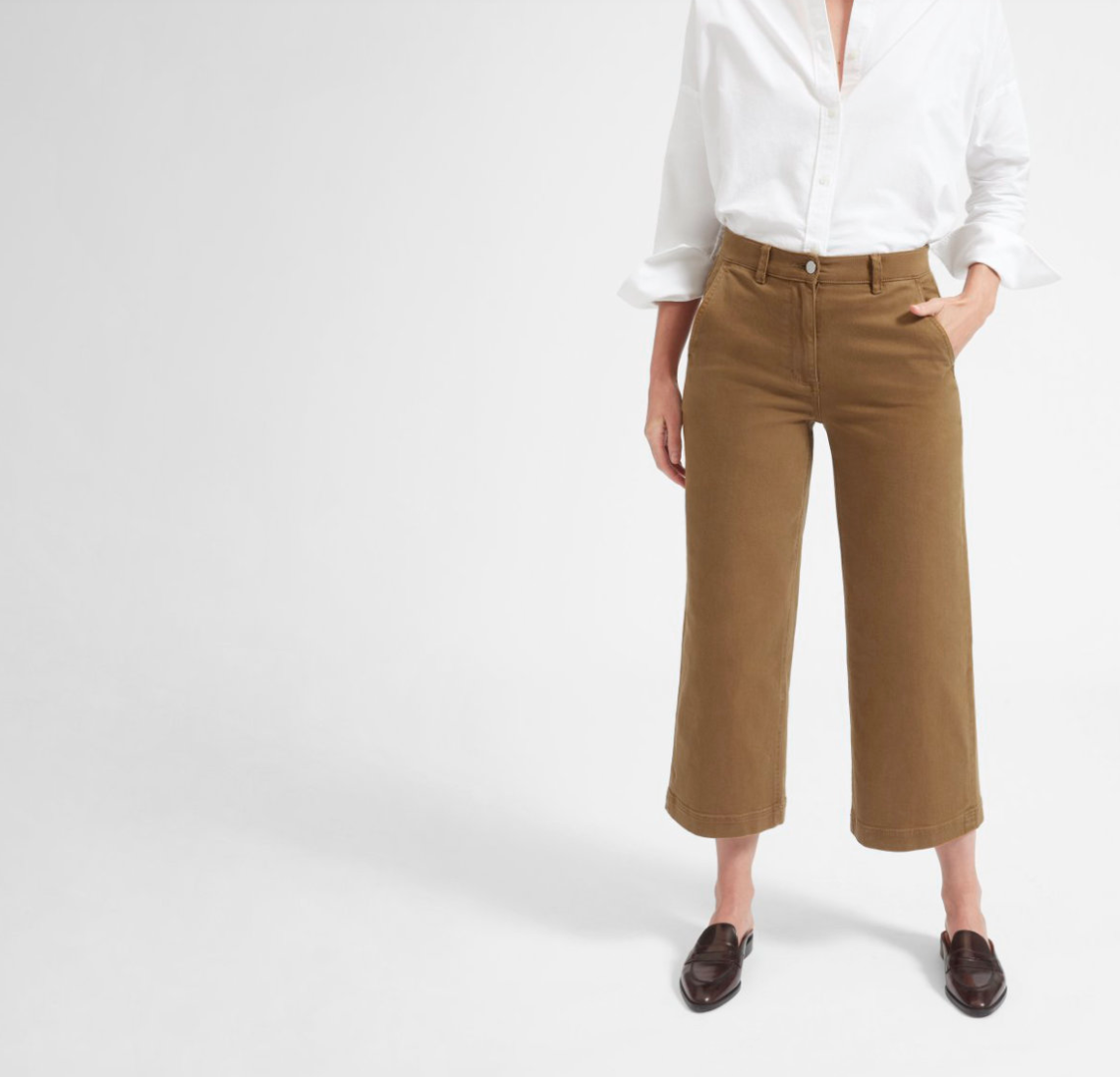 Top US fashion blogger, Wellesley & King, shares favorites by Ethical Fashion Brand Everlane: everlane wide leg crop
