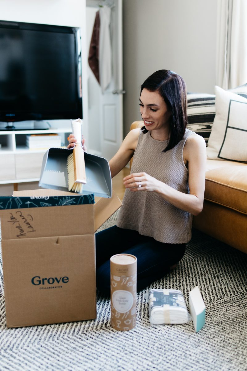 Top US lifestyle blogger, Wellesley & King, tells you how to get safe household products delivered to your door with Grove Collaborative: natural cleaning products, natural household products, natural beauty, sustainable cleaning products